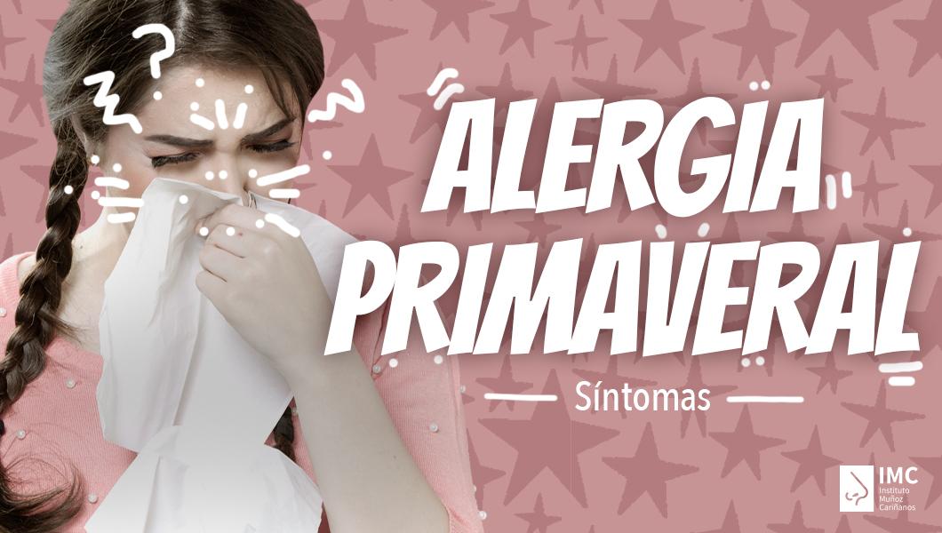¿Tengo alergia primaveral?